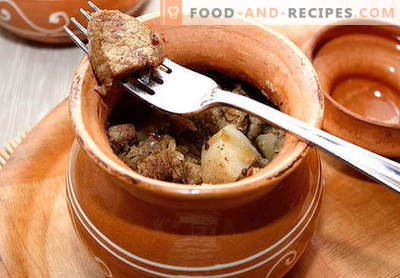 Pork in the pot - the best recipes. How to properly and tasty cook pork in a pot.