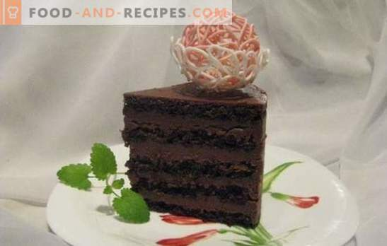 Chocolate sponge cake - an exceptional dessert! Recipes delicate and always delicious chocolate cakes from biscuit