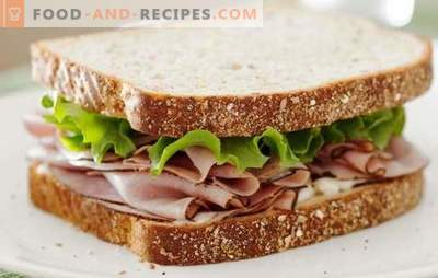 Ham sandwiches - quick, satisfying, tasty. The best recipes for simple and hot sandwiches with ham and cheese, vegetables, herbs and many others