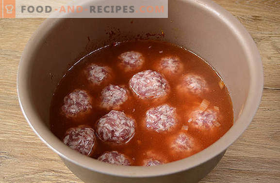 Meatballs with rice in gravy: kids love, adults love! Author's step by step photo recipe of meatballs with rice in a slow cooker