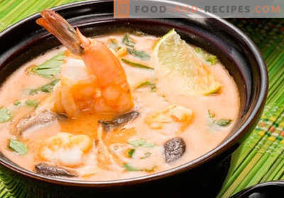 Soup Tom Yam - proven recipes. How to cook soup Tom Yam.