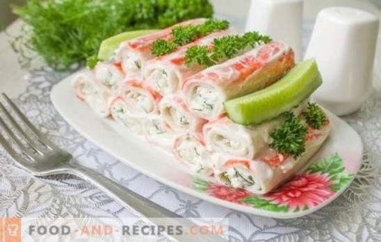Crab sticks appetizer is a tasty dish made from a dietary product. The best recipes for hot and cold snacks from crab sticks