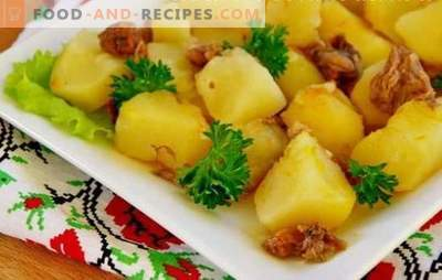 Potatoes with stew in a slow cooker - simply and with taste. Prepare potatoes with stew in a slow cooker and dive back
