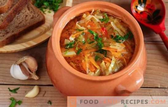 Lean cabbage soup made from sauerkraut - recipes and cooking secrets. How to cook delicious lean soup of sauerkraut