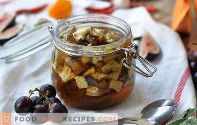 Eggplant jam - dessert with a surprise! Recipes simple and Armenian eggplant jam, with soda and without