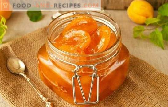How to cook apricots with slices - a delicious treat for tea. A selection of recipes for apricot jam slices with kernels, lemon, vanilla