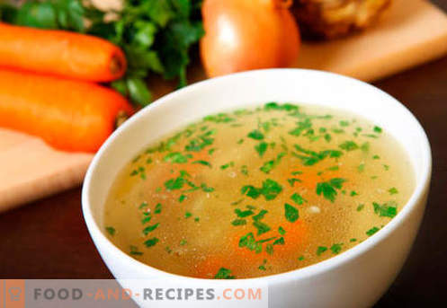 Meat broth - the best recipes. How to properly and cook meat broth.