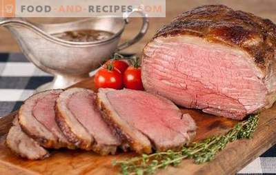 Beef roast beef - for the British and not only! New and classic roast beef recipes in different marinades, with mushrooms, vegetables
