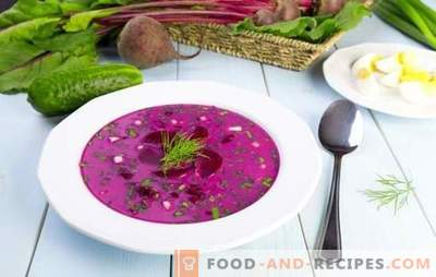Okroshka with beets - a refreshing lunch in hot weather. The best recipes for beetroot hash on kvass or kefir