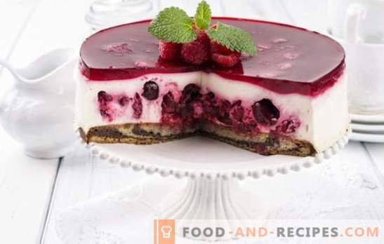 Jelly cake with pastries - a refreshing taste! Variants of jelly cakes with pastries and different layers