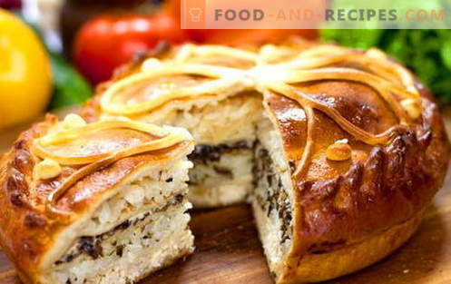 Kurnik - the best recipes. How to properly and tasty cook chicken with potatoes, chicken and puff pastry.