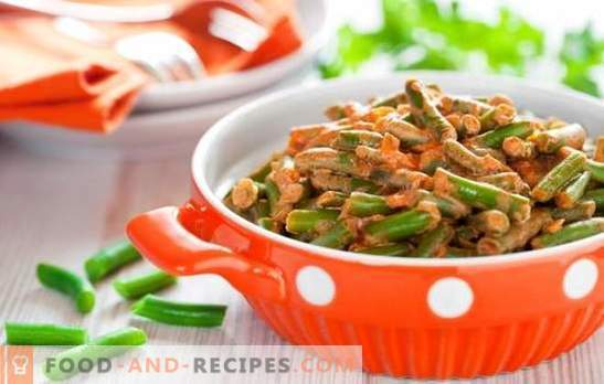 How to cook green beans tasty and quickly: a salad, side dish with vegetables, eggs, mushrooms. Cooking green beans tasty - recipes