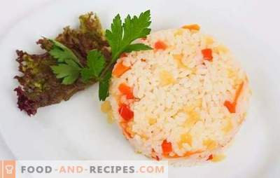 Rice with carrots and onions is a useful side dish. Recipes of rice with carrots and onions in the oven, multicooker or on the stove