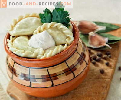 Dumplings in pots - the best recipes. How to properly and tasty cook dumplings in pots.