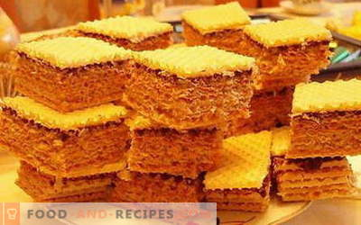 Waffle cake - the best recipes. How to properly and tasty cook Waffle cake.