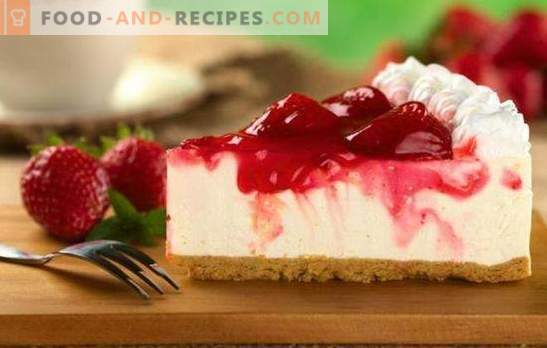 Cheesecake with strawberries - the embodiment of tenderness. Recipes for cottage cheese cakes with strawberries: biscuit, jelly, biscuit