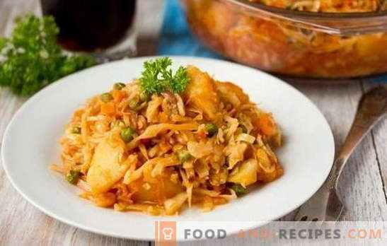 The best recipes for stewed cabbage with meat in a slow cooker. How to cook stewed cabbage with meat: color, white cabbage, broccoli, etc.