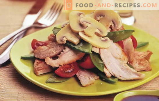 Salad with pickled chicken - even more flavor and taste! The best recipes for salads with pickled chicken: simple and puff