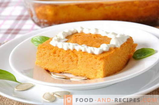 Pumpkin casserole - the best recipes. How to properly and tasty to cook a pumpkin casserole.