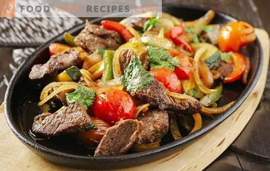 Pork with vegetables in a pan - incredibly simple, unreal delicious! Tricks of cooking and recipes of pork with vegetables in a pan