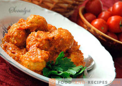 Meatballs with gravy - proven recipes. How to properly and tasty cooked meatballs with gravy.