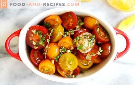 Lightly salted tomatoes in a package: a quick recipe for a delicious snack. Instant recipes of lightly salted tomatoes in a package