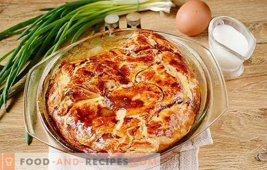 Meat pie made from ready-made puff pastry: author's step by step photo recipe. How to quickly bake a meat pie with curd puff pastry with minced meat