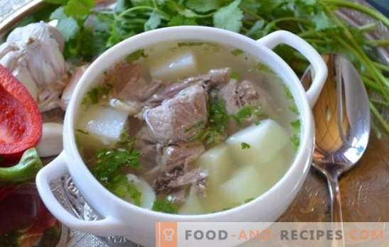 Pork shulum - the most rich soup! Recipes and methods of cooking shulum from pork with smoke, smoked meat, vegetables