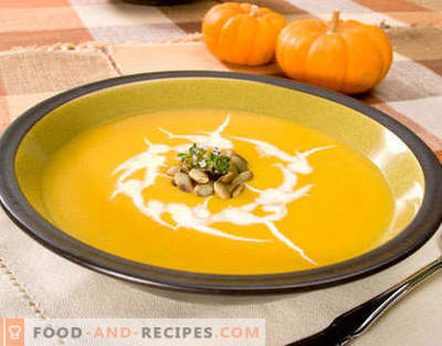 Pumpkin soup - the best recipes. How to properly and tasty cook pumpkin soup.