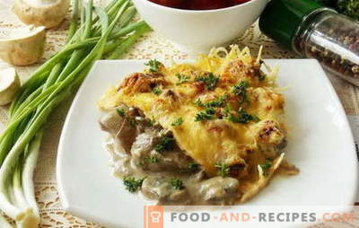 A variety of recipes for chicken liver with mushrooms. What can be added to dishes from chicken liver with mushrooms: vegetables, sour cream, cream