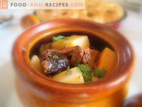 Potatoes with meat are the best recipes. How to properly and tasty cook potatoes with meat in pots.