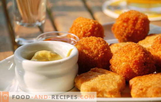 Nuggets at home - much tastier than purchased ones! Anyone who loves fast food: homemade nuggets recipes