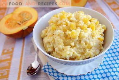 Millet porridge - the best recipes. How to cook millet porridge.