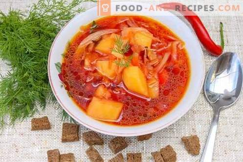 Ukrainian borsch - both on holiday and in fasting!