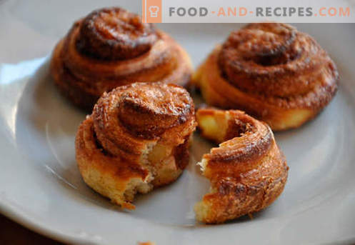 Cinnamon rolls are the best recipes. How to properly and tasty cook cinnamon buns at home