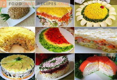 Puff salads - the best recipes. How to properly and tasty cook puff salads.