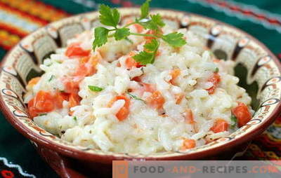Rice with carrots - always friendly! Sweet and spicy, fried, boiled and baked - rice dishes with carrots: the best recipes