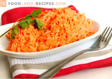 Raw carrot salad - the best recipes. How to properly and tasty to prepare raw carrot salad.