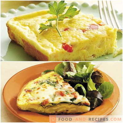 Omelet in the oven - proven recipes. How to properly and tasty cook an omelet in the oven.