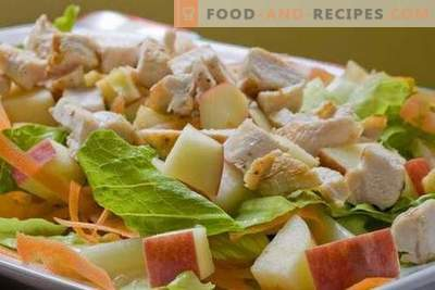 Chicken and apple salads are the best recipes. How to properly and tasty to prepare a salad of chicken with apples.