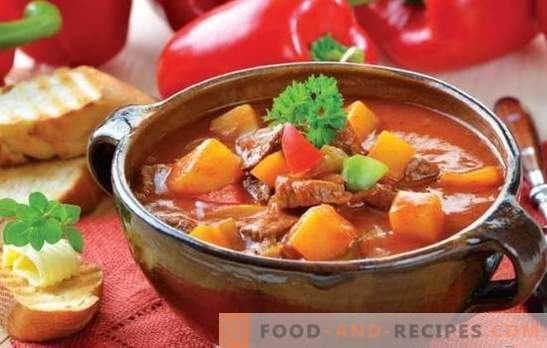 Soup with meat and potatoes: the recipes are simple and very simple. Potato and meat soups: lean, chicken, beef, vegetable