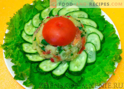 Hungarian salad with ham