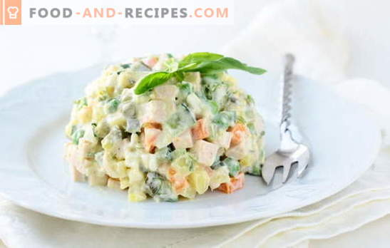 Winter salads with sausage: for long winter evenings. Recipes Salad