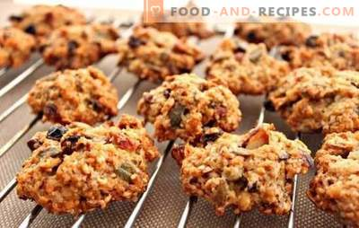 Oatmeal cookies without baking - the oven is not needed! Cooking healthy and tasty oatmeal cookies without baking at home