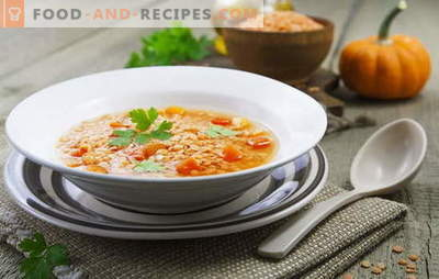 Red lentil soups - spicy and spicy. National recipes for hearty and non-nutritious red lentil soups