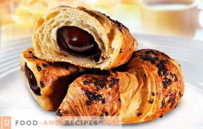 Croissants with chocolate - every morning will be good! The best recipes for croissants with chocolate from homemade and purchased dough