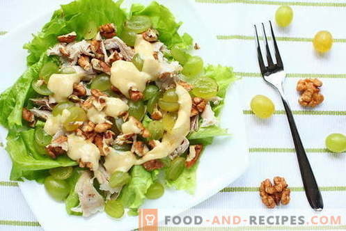 Chicken and nuts salad - the best recipes. How to cook a salad Chicken with nuts.