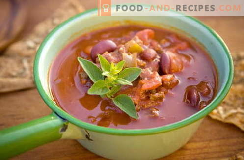 Bean soup - the best recipes, tricks and secrets. How to cook a delicious bean soup: with meat, bacon, chicken