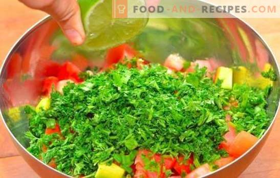 Salad with lemon juice - a delicious vitamin variety of diet! Recipes for healthy salads, seasoned with lemon juice