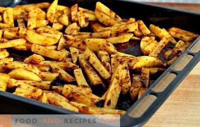 French fries in the oven - minimum damage and maximum taste! How to cook french fries in the oven - recipes with step-by-step description